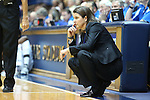 06 December 2012: Duke head coach Joanne P. McCallie. The Duke University Blue Devils played the Georgia Tech University Yellow Jackets at Cameron Indoor Stadium in Durham, North Carolina in an NCAA Division I Women's Basketball game. Duke won the game 85-52.