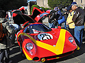 November 27, 2011, Tokyo, Japan - A 1968 Lola T70 Mk IIIof Britain is displayed in the front yard of the Meiji Memorial Picture Gallery during the fifth Classic Car Festa 2011 in Tokyo on Sunday, November 27, 2011. .Some 43,000 spectators watch about 100 domestic and foreign classic and vintage cars parade the gingko-lined streets of the Meiji Shrines Outer Garden in the annual open-air exhibition and parade sponsored by Toyota Automobile Museum. (Photo by Natsuki Sakai/AFLO) [3615] -mis-.