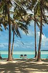 View for two at Aitutaki Lagoon Resort & Spa on Aitutaki, Cook Islands.