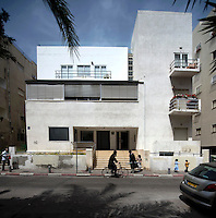 A Bauhaus style building at 57 Ahad Haam Street built in 1934 by architect Genia Averbuch. Tel Aviv is known as the White City in reference to its collection of 4,000 Bauhaus style buildings, the largest number in any city in the world. In 2003 the Bauhaus neighbourhoods of Tel Aviv were placed on the UNESCO World Heritage List. .