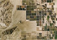 aerial photo map of desert farming, Riverside County, 2006