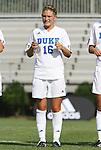24 August 2008: Duke's Elizabeth Redmond. The Duke University Blue Devils defeated the Coastal Carolina University Lady Chanticleers 9-0 at Koskinen Stadium in Durham, North Carolina in an NCAA Division I Women's college soccer game.