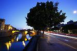 Puente sobre el rio Segura. Murcia.