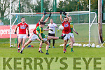 Kerry Jack Savage scores a point against Cork Stephen Cronin during the McGrath cup clash in Mallow on Sunday