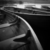 Rowing Boats, Dedham Vale | Black and White Photography