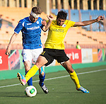 Alashkert FC v St Johnstone...02.07.15   Republican Stadium, Yerevan, Armenia....UEFA Europa League Qualifier.<br /> Murray Davidson and Arsen Balabekyan<br /> Picture by Graeme Hart.<br /> Copyright Perthshire Picture Agency<br /> Tel: 01738 623350  Mobile: 07990 594431