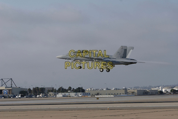 """ATMOSPHERE.World Film Premiere of Columbia Pictures' """"Stealth"""" .held at the Naval Air Station North Island (NASNI), Coronado, California, USA,17 July 2005..plane taking off air.Ref: ADM.www.capitalpictures.com.sales@capitalpictures.com.©Zach Lipp /AdMedia/Capital Pictures."""