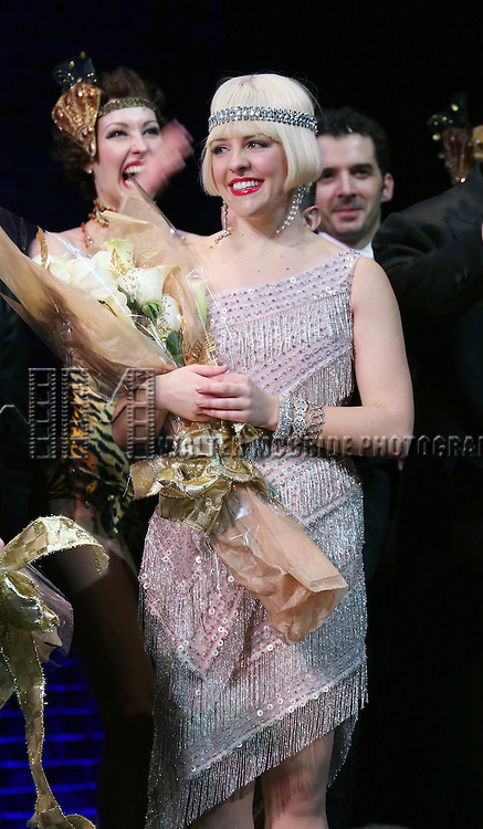 "Helene Yorke during the Broadway Opening Night Performance Curtain Call for ''Bullets Over Broadway'""at the St. James Theatre on April 10, 2014 in New York City."