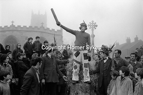 Haxey Hood Game. Haxey, Lincolnshire. Smoking the Fool. 1972.<br />