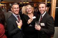 David Mayfield (left) and Richard Betts both from Bygott Biggs with Gateley's Helen Webster