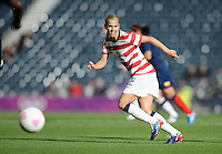 Glasgow, Scotland - Saturday, July 28, 2012:  Heather Mitts of the USA Women's soccer team during a 3-0 win over Colombia in the first round of the Olympic football tournament at Hamden Park.