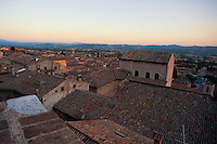 Gubbio,i tetti della città