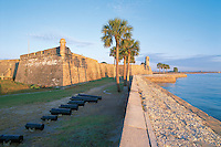 Florida. Castillo de San Marcos National Monument in Saint Augustine, built by the Spanish in 1672, These United States page 96