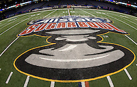 AllState Sugar Bowl Logo on the field before Florida vs Louisville during 79th Sugar Bowl game at Mercedes-Benz Superdome in New Orleans, Louisiana on January 2nd, 2013.
