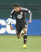 Cristian Castillo #12 of D.C. United during a US Open Cup match against F.C. Dallas on April 28 2010, at RFK Stadium in Washington D.C. United won 4-2.