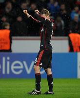 FUSSBALL   CHAMPIONS LEAGUE   SAISON 2011/2012   ACHTELFINALE  Bayer 04 Leverkusen - FC Barcelona              14.02.2012 Lars Bender (Bayer 04 Leverkusen) nach dem Abpfiff enttaeuscht