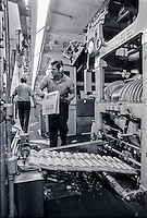 Pressmen work the presses at TNI in this Dec. 12, 1973 file photo.
