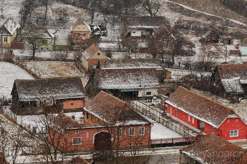 Winter in Transylvania. Romania, 2012