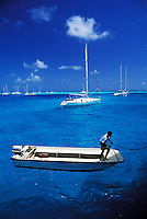 Sail boats, Tobago Cays, The Grenadines, Caribbean