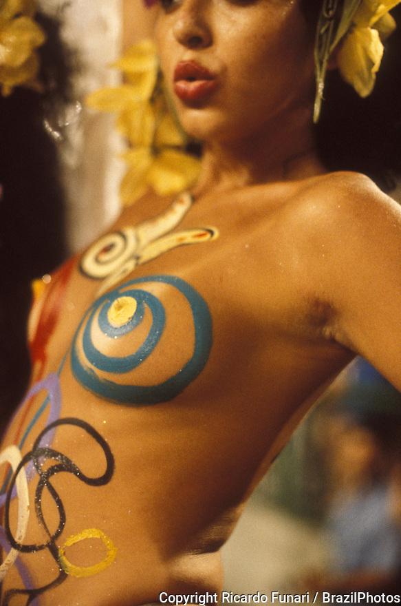 Body brazil nudist paint