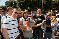 Roma 11 Giugno 2011.EuroPride 2011.La Sfilata del Gay pride, la giornatà dell' orgoglio omossessuale per le vie della città.Il Presidente della Regione Lazio Renata Polverini