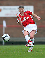 Niamh Fahey of Arsenal - Arsenal Ladies vs Sparta Prague - UEFA Women's Champions League at Boreham Wood FC - 11/11/09 - MANDATORY CREDIT: Gavin Ellis/TGSPHOTO - Self billing applies where appropriate - Tel: 0845 094 6026