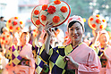 July 16th, 2011, Sendai, Japan - Hanagasa Matsuri's dancers from Yamagata prefecture perform at the Tohoku Rokkon Festival, July 16, 2011, in Sendai city, Miyagi prefecture, northeastern Japan, about 90km away from the tsunami-crippled Fukushima Daiichi Nuclear Power Plant. The six major festivals in the Tohoku region, comprising Sansa Odori in Iwate, Nebuta Matsuri in Aomori, Tanabata Matsuri in Sendai, Hanagasa Matsuri in Yamagata, Kanto Matsuri in Akita, and Waraji Matsuri in Fukushima, are performed together at Tohoku Rokkon Festival for the first time to overcome the many harmful rumors and atmosphere of excessive restraint, to recover the visiting population in order to revive the regional economy, and accomplish reconstruction after the March 11's earthquake and tsunami. (Photo by Tomoyuki Kaya/AFLO) [3694]