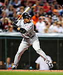 4 September 2009: Minnesota Twins' center fielder Carlos Gomez in action against the Cleveland Indians at Progressive Field in Cleveland, Ohio. The Indians defeated the Twins 5-2 to take the first game of their three-game weekend series. Mandatory Credit: Ed Wolfstein Photo