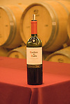 Chile Wine Country: Bottle of wine at Concha y Toro Winery, Vina Concha y Toro, near Santiago..Photo #: ch481-32921..Photo copyright Lee Foster, 510-549-2202, www.fostertravel.com, lee@fostertravel.com.