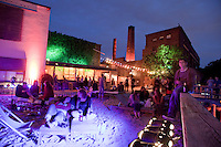 The Arena Club in Berlin, part of a large former factory area on the banks of the River Spree now converted into artists' studios, performance spaces, galleries, bars, restaurants and clubs.