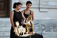 Marionette performance in the street of Athens, Greece