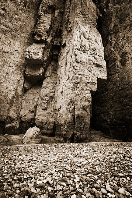 Rock-bar and canyon wall. Santa Elena Canyon, Big Bend National Park, Texas.