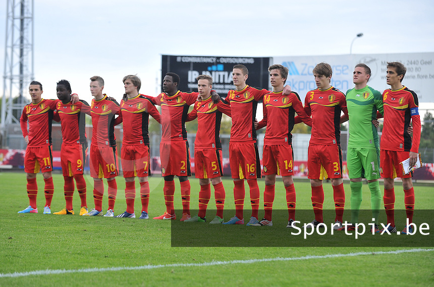 Belgium U19 - England U19 : Team Belgium.foto DAVID CATRY / Nikonpro.be