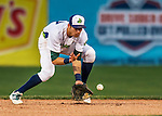 31 August 2016: Vermont Lake Monster infielder Eli White in action against the Tri-City ValleyCats at Centennial Field in Burlington, Vermont. The Lake Monsters defeated the ValleyCats 5-3 in NY Penn League action. Mandatory Credit: Ed Wolfstein Photo *** RAW (NEF) Image File Available ***
