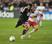 D.C. United forward Lionard Pajoy (26)  The New York Red Bulls tied D.C. United 1-1 in the first leg of the Eastern Conference semifinals at RFK Stadium, Saturday November 3, 2012.