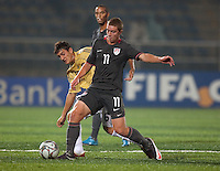 Nick Palodichuk controls the ball. Spain defeated the U.S. Under-17 Men National Team  2-1 at Sani Abacha Stadium in Kano, Nigeria on October 26, 2009.
