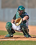 15 April 2008: University of Vermont Catamounts' catcher Jeff Nolet, a Junior from Concord, MA, warms up his pitcher prior to facing the Dartmouth College Big Green at Historic Centennial Field in Burlington, Vermont. The Catamounts rallied from a 7-3 deficit going into the bottom of the ninth, to tie and then win in the tenth: 8-7 over Dartmouth in a non-conference NCAA game...Mandatory Photo Credit: Ed Wolfstein Photo