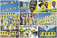 Posters for Haitian presidential candidate Jude Celestin are visible throughout the city on November 24, 2010 in Port-au-Prince, Haiti.