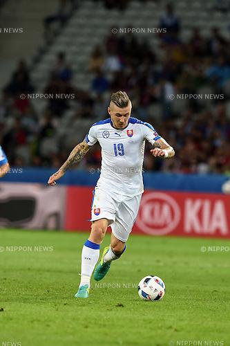 Juraj Kucka (Slovakia) ; <br /> June 15, 2016 - Football : Uefa Euro France 2016, Group B, Russia 1-2 Slovakia at Stade Pierre Mauroy, Lille Metropole, France.; ;(Photo by aicfoto/AFLO)