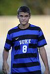 14 September 2012: Duke's Chase Keesling. The Duke University Blue Devils defeated the Clemson University Tigers 2-0 at Koskinen Stadium in Durham, North Carolina in a 2012 NCAA Division I Men's Soccer game.