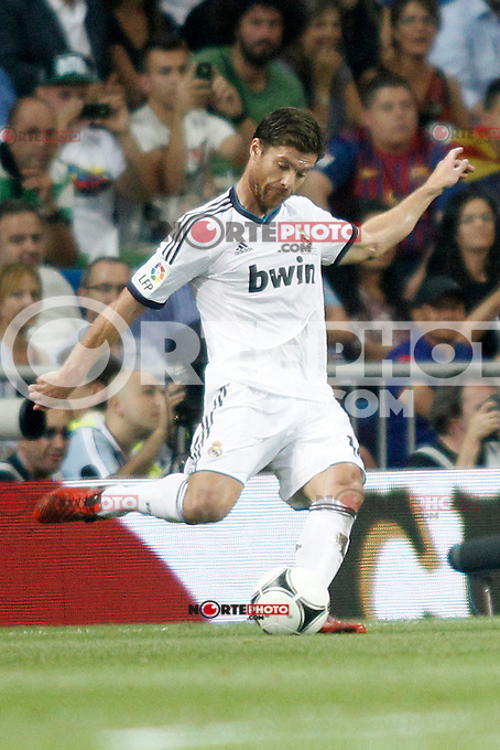 Real Madrid's Xabi Alonso during Super Copa of Spain on Agost 29th 2012...Photo:  (ALTERPHOTOS/Ricky) Super Cup match. August 29, 2012. <br />  (foto:ALTERPHOTOS/NortePhoto.com<br /> <br /> **CREDITO*OBLIGATORIO** <br /> *No*Venta*A*Terceros*<br /> *No*Sale*So*third*<br /> *** No*Se*Permite*Hacer*Archivo**<br /> *No*Sale*So*third*
