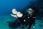 Nautilus with diver