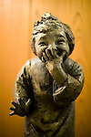 """Photo shows  a bronze work by revered sculptor Seibo Kitamura titled """"Yorokobu shojo"""" (Elated Girl) at the Honma Museum of Art in Sakata, Yamagata Prefecture, Japan, on July 06, 2012. The work was presented to the museum to commemorated the opening of the new exhibition hall in 1968. Photographer: Robert Gilhooly"""