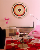 With the exception of the sound system designer Karim Rashid has designed every aspect of this bright and colourful living room