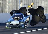 Feb 12, 2016; Pomona, CA, USA; NHRA funny car driver Alexis DeJoria during qualifying for the Winternationals at Auto Club Raceway at Pomona. Mandatory Credit: Mark J. Rebilas-USA TODAY Sports