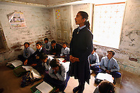 Children of sex workers from the Bedia caste learn along side other children from the community at a Plan (NGO) supported school in Rajasthan...