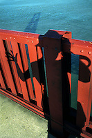 Self portrait on the Golden Gate Bridge in San Francisco, 1994.