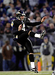 31 December 2006: Baltimore Ravens punter Sam Koch (4) in action during a game against the Buffalo Bills at M&amp;T Bank Stadium in Baltimore, Maryland. The Ravens defeated the Bills 19-7. Mandatory Photo Credit: Ed Wolfstein Photo.<br />