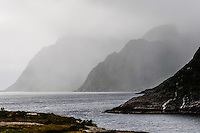 Norway, Lofoten. Å in Lofoten is traditionally a fishing village, with tourism as a growing income. This is as far as you can go in Lofoten by road.