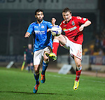 St Johnstone v Ross County....29.11.14   Scottish Cup 4th Round<br /> Tony Dingwall and Simon Lappin<br /> Picture by Graeme Hart.<br /> Copyright Perthshire Picture Agency<br /> Tel: 01738 623350  Mobile: 07990 594431